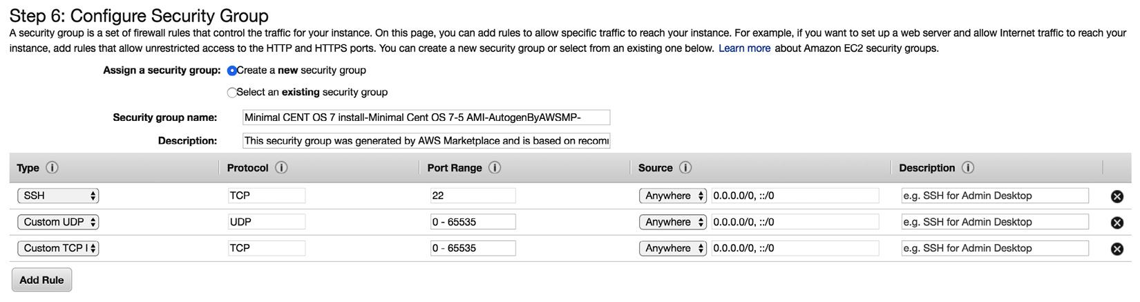 Figure 1.10 – Creating a security group