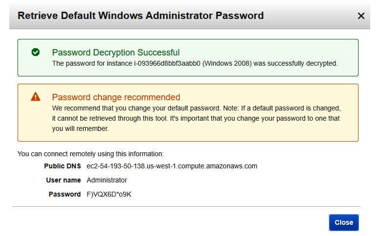 Figure 1.17 – User name and Password