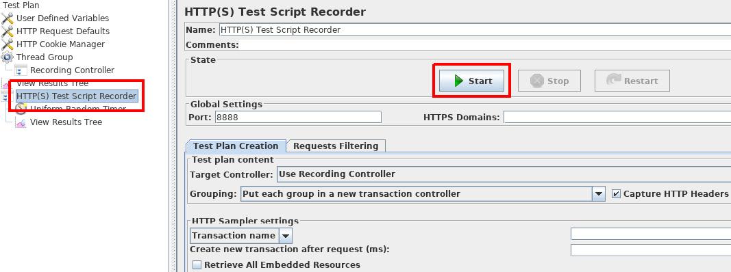 Figure 1.11: HTTP(S) Test Script Recorder