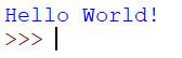 Figure 1.3 – The 'Hello World!' Python program
