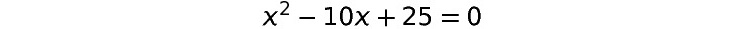 Figure 1.28: A quadratic equation