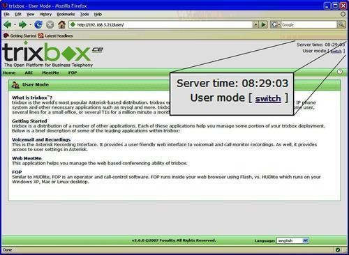 Admin mode trixbox ce 2. 6.