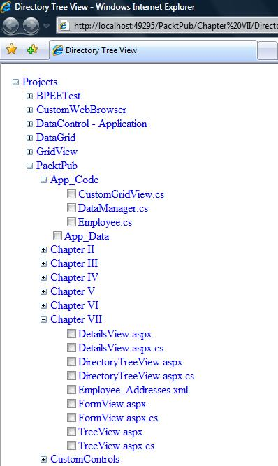 Implementing a Directory Structure as a TreeView - ASP NET