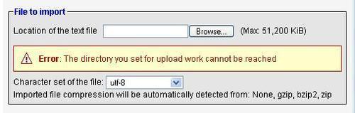 Web Server Upload Directories - Mastering phpMyAdmin 2 11