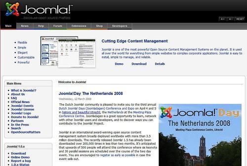 Examples of Joomla! Pages - Building Websites with Joomla! 1 5