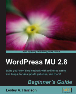 WordPress MU 2.8: Beginner's Guide