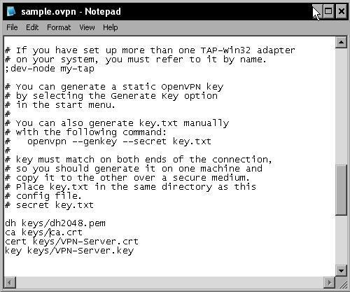 Configuring OpenVPN to use certificates - Beginning OpenVPN
