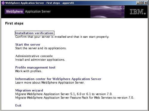 Graphical installation - WebSphere Application Server 7 0