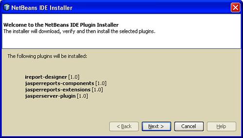 Installing iReport plugins in NetBeans - iReport 3 7
