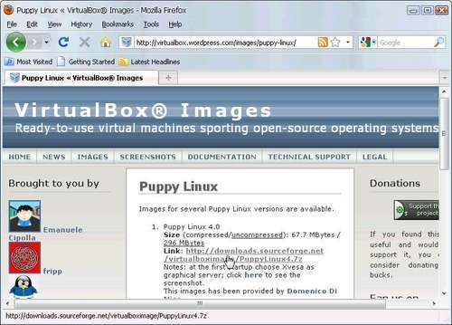 Time for action – using a PuppyLinux VM in VirtualBox - VirtualBox