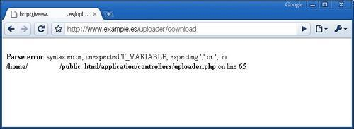 Errors and error pages - CodeIgniter 1 7