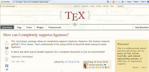 Time for action – asking a question online - LaTeX