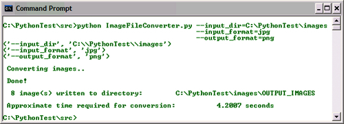 Time for action – image file converter - Python Multimedia