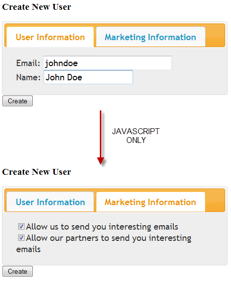 Creating a client-side JavaScript tabbed panel - Apache Wicket Cookbook