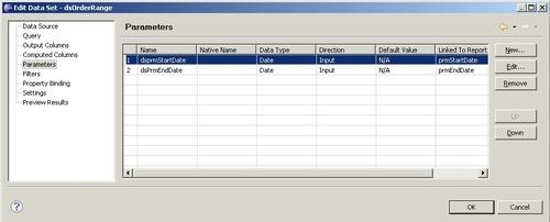 Setting default parameter values - BIRT 2 6 Data Analysis