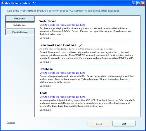 Downloading the Microsoft Web Platform Installer - DotNetNuke 5 4