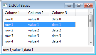 Listing data with a ListCtrl - wxPython 2 8 Application
