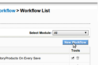 Time for action - creating a conditional workflow - vtiger CRM