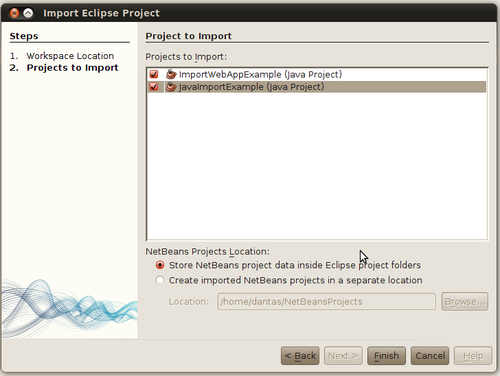 Importing Projects from Eclipse - NetBeans IDE 7 Cookbook