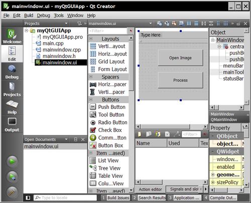 Creating a GUI application using Qt - OpenCV 2 Computer