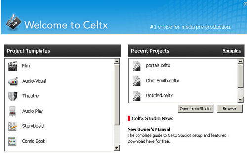 Project Library - Celtx: Open Source Screenwriting