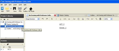 Play elements - Celtx: Open Source Screenwriting Beginner's
