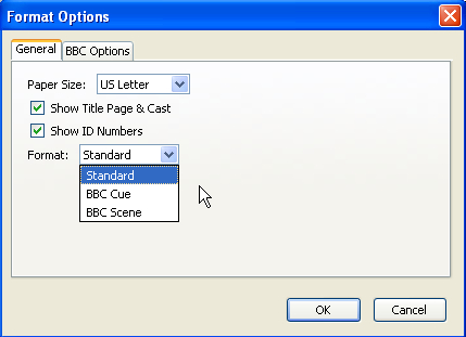 Time for action - using BBC formatting - Celtx: Open Source