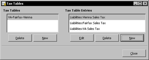 Time for action – setting up sales tax tables - Gnucash 2 4