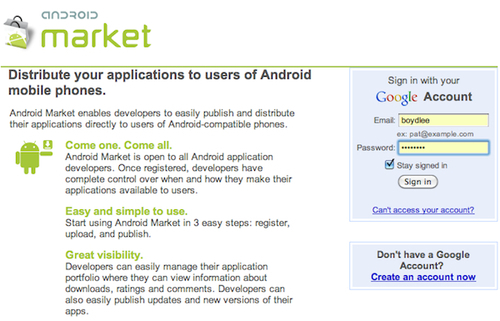 Joining the Google Android Developer Program - Appcelerator