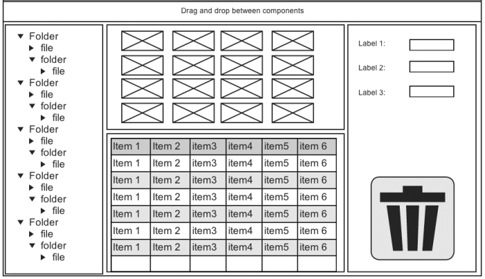 Drag and drop between Ext JS components - Learning Ext JS 4