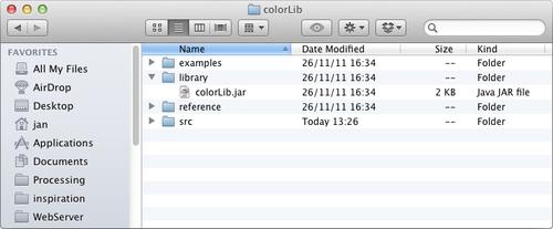 Installing libraries - Processing 2: Creative Programming Cookbook