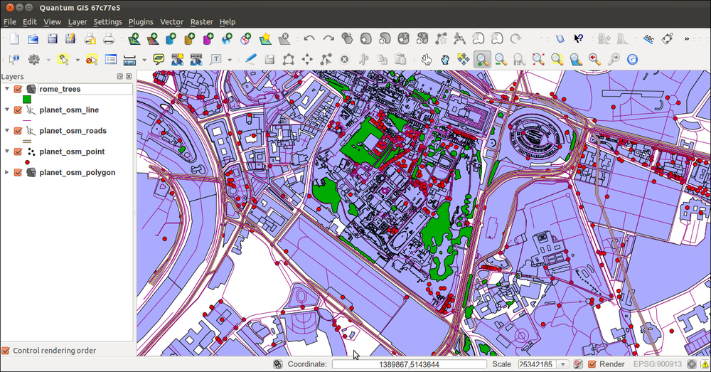 Importing OpenStreetMap data with the osm2pgsql command - PostGIS