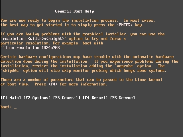 Inserting the CD and booting - Elastix Unified