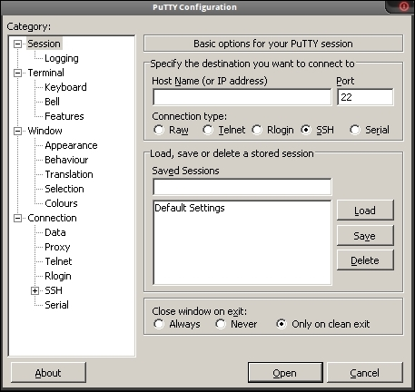 Using PuTTY as an SSH client - Elastix Unified Communications Server