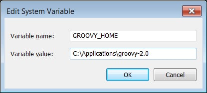 Installing Groovy on Windows - Groovy 2 Cookbook