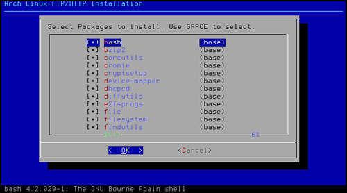 Installing Arch Linux using the Archboot ISO (Should know