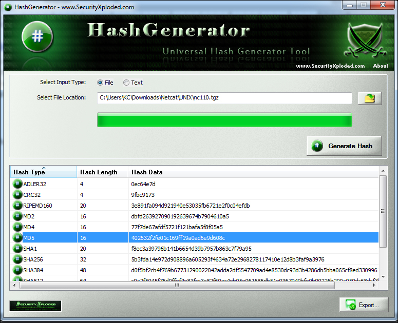 linux nc download file