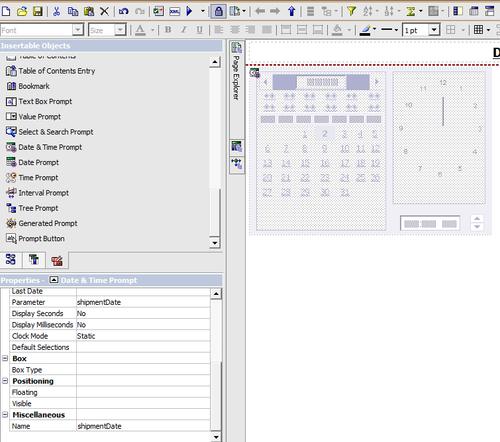 Manipulating Date Time control - IBM Cognos 8 Report Studio