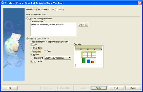 Creating a crosstab worksheet in Discoverer Plus - Oracle
