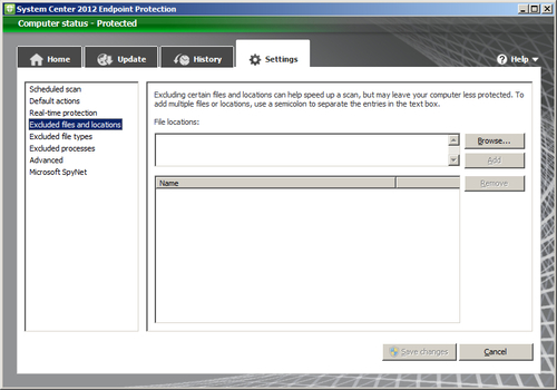 Manually editing local SCEP policy using the user interface