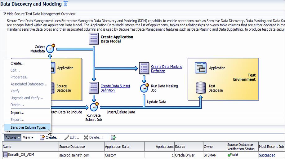 Finding sensitive data - Oracle Enterprise Manager Cloud