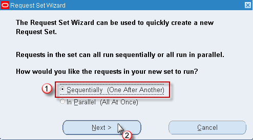 Creating request sets - Oracle E-Business Suite R12 Core