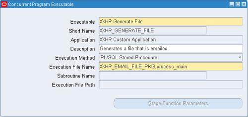 query to find concurrent program executable file name