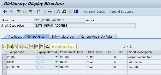 Creating nested tables - SAP ABAP Advanced Cookbook
