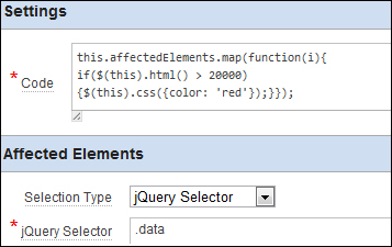 Data highlighting using Dynamic Actions and jQuery - Oracle APEX 4 2
