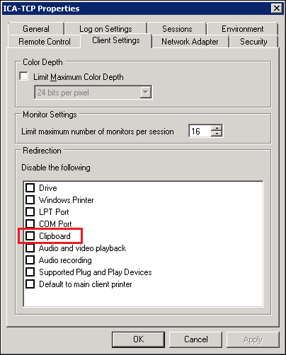 Troubleshooting client clipboard issues - Citrix XenApp 6 5