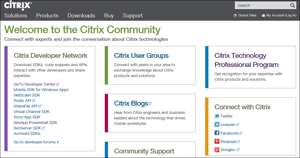 The Citrix Community website - Citrix XenApp 6 5 Expert Cookbook