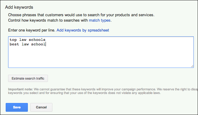 Adding new keywords to an existing ad group - Advertising on Google