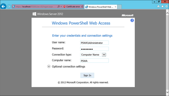 Windows PowerShell Web Access (PSWA) - PowerShell 3 0 Advanced