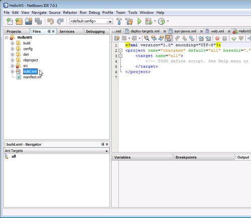 Creating an Apache Ant build file - Java 7 JAX-WS Web Services
